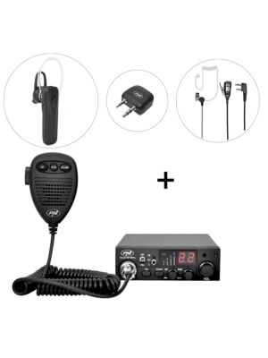 Kit Statie radio CB PNI Escort HP 8001L ASQ + PNI BT-DONGLE 8001 + Casca Bluetooth cu microfon PNI BT-MIKE 7500 cu PTT