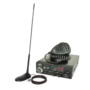 Kit Statie radio CB PNI ESCORT HP 8024 ASQ 12/24V + Antena CB PNI Extra 45 cu magnet